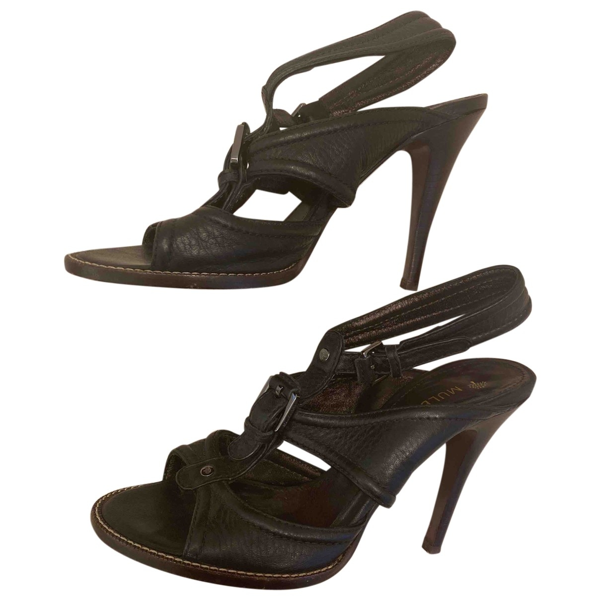 Mulberry \N Black Leather Sandals for Women 36 EU