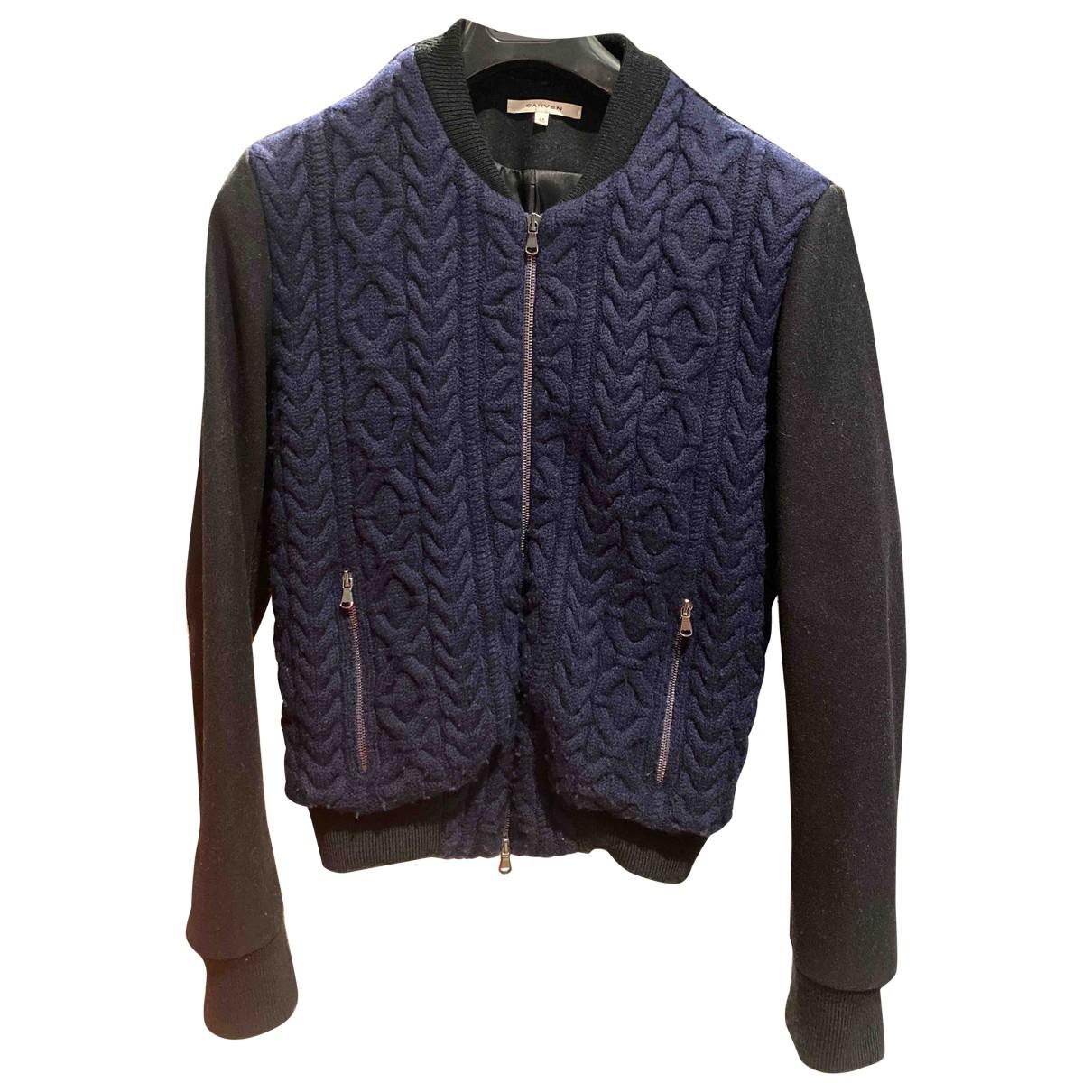 Carven - Vestes.Blousons   pour homme en laine - bleu