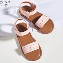 Toddler Girls Open Toe Velcro Strap Sandals
