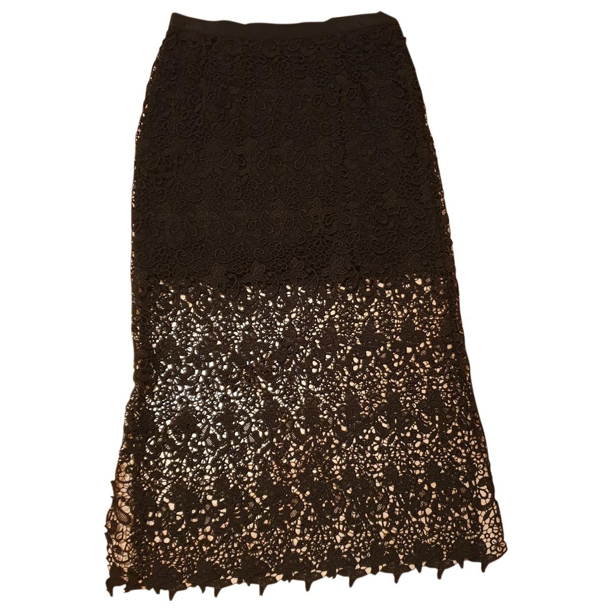Ermanno Scervino \N Black Cotton - elasthane skirt for Women 42 IT