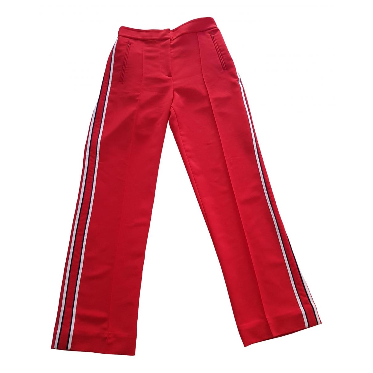 Pantalon en Poliester Rojo & Other Stories