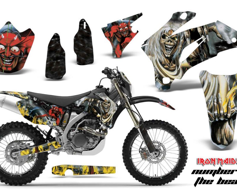AMR Racing Graphics MX-NP-YAM-WR250F-07-14-WR450F-07-11-IM NOTB Kit Decal Wrap + # Plates For Yamaha WR250F 2007-2014 WR450F 2007-2011áIM NOTB