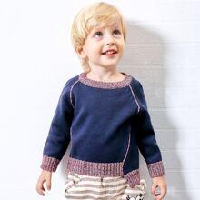 Pullover mit Raglanaermeln und Stufensaum