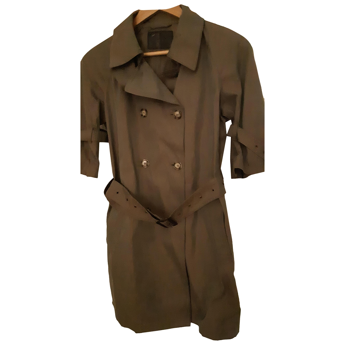 Prada \N Khaki Cotton Trench coat for Women 44 IT