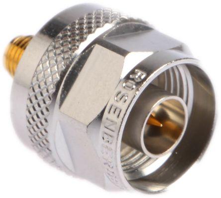 Rosenberger Straight 50Ω RF Adapter N Plug to SMA Socket 11GHz