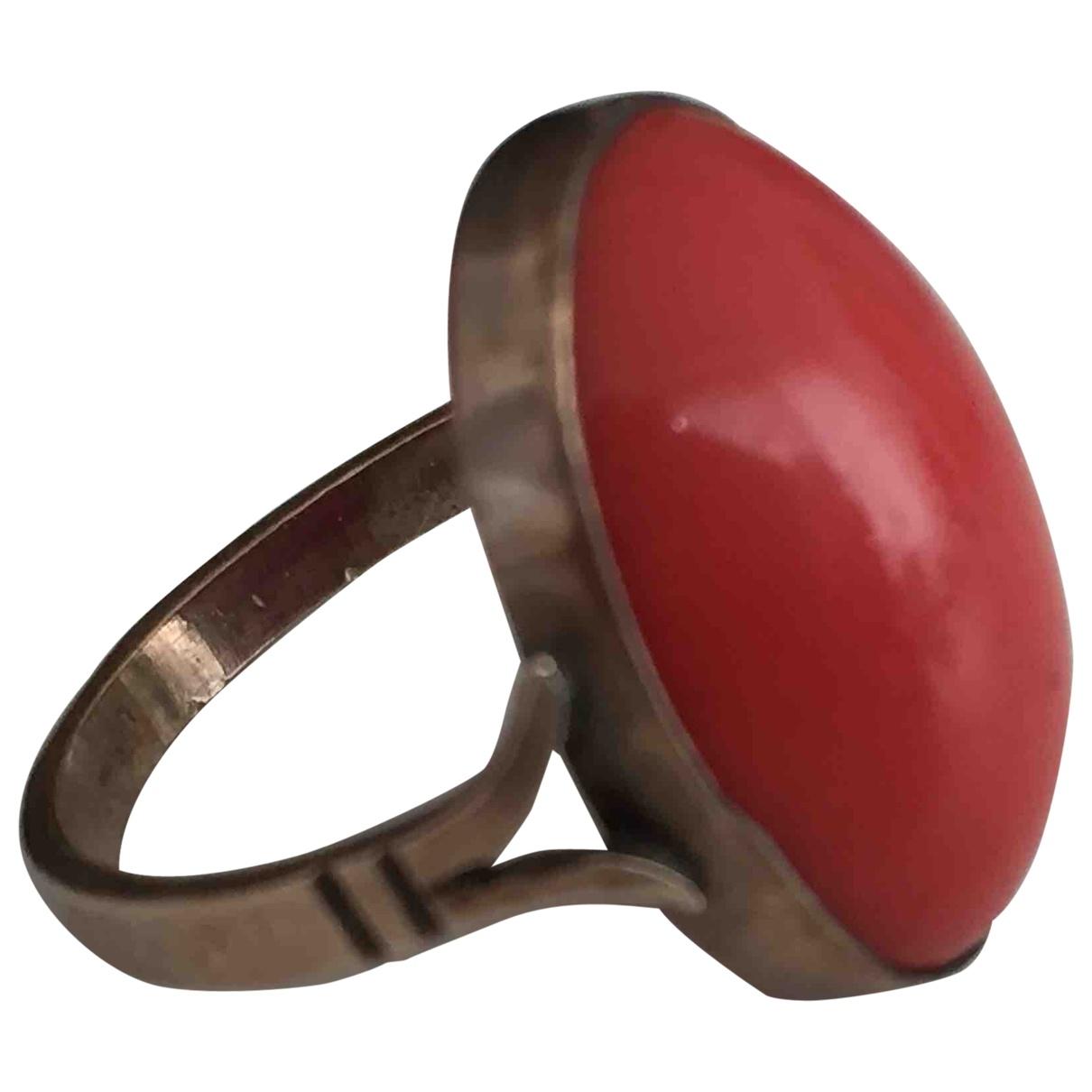 - Bague Corail pour femme en or rose - dore