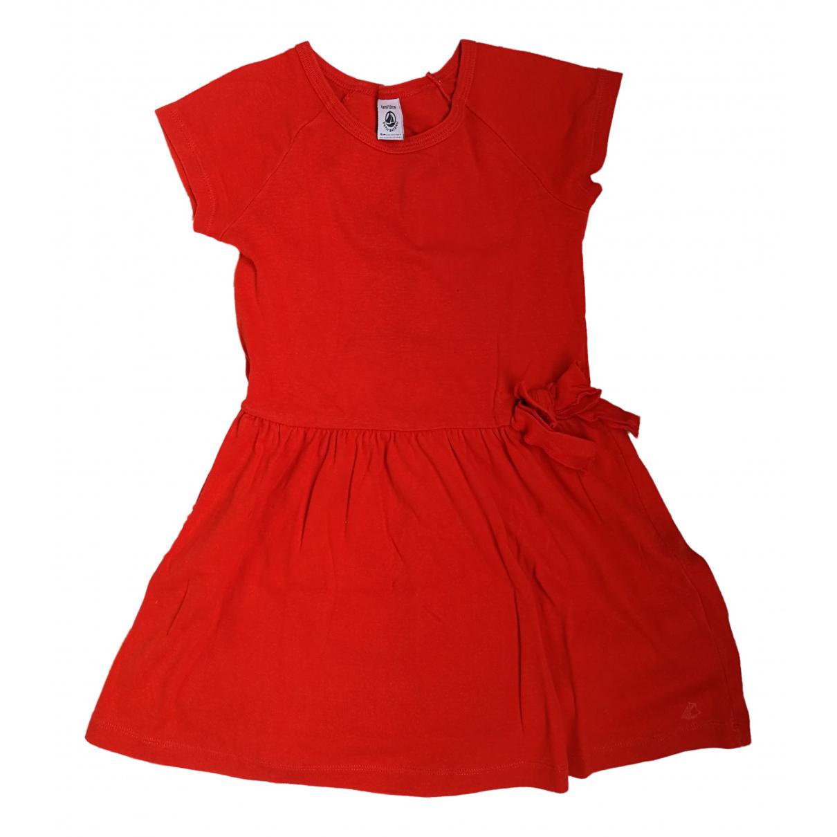 Petit Bateau - Robe    pour enfant en coton - rouge