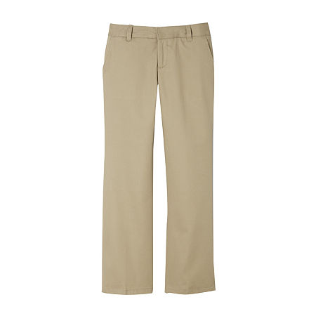 French Toast Little & Big Girls Bootcut Flat Front Pant, 4 , Beige