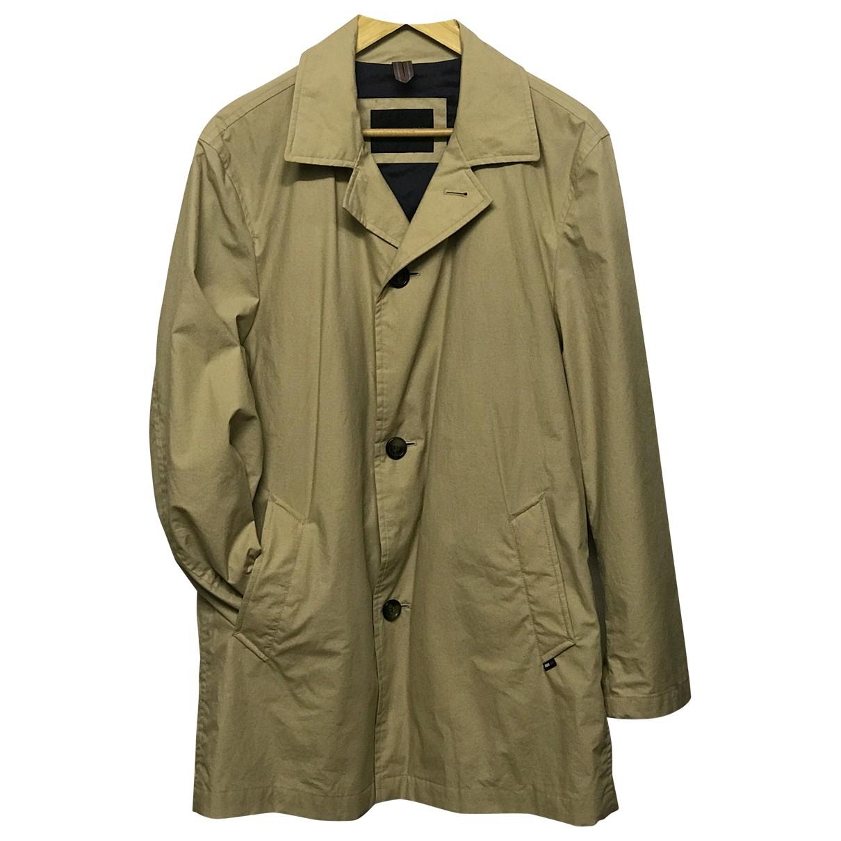 Tommy Hilfiger - Manteau   pour homme en coton - ecru