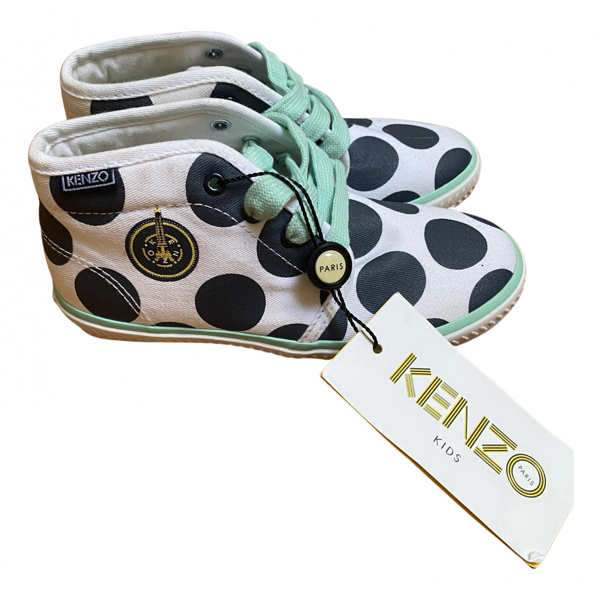 Kenzo N White Cloth Trainers for Kids 30 FR