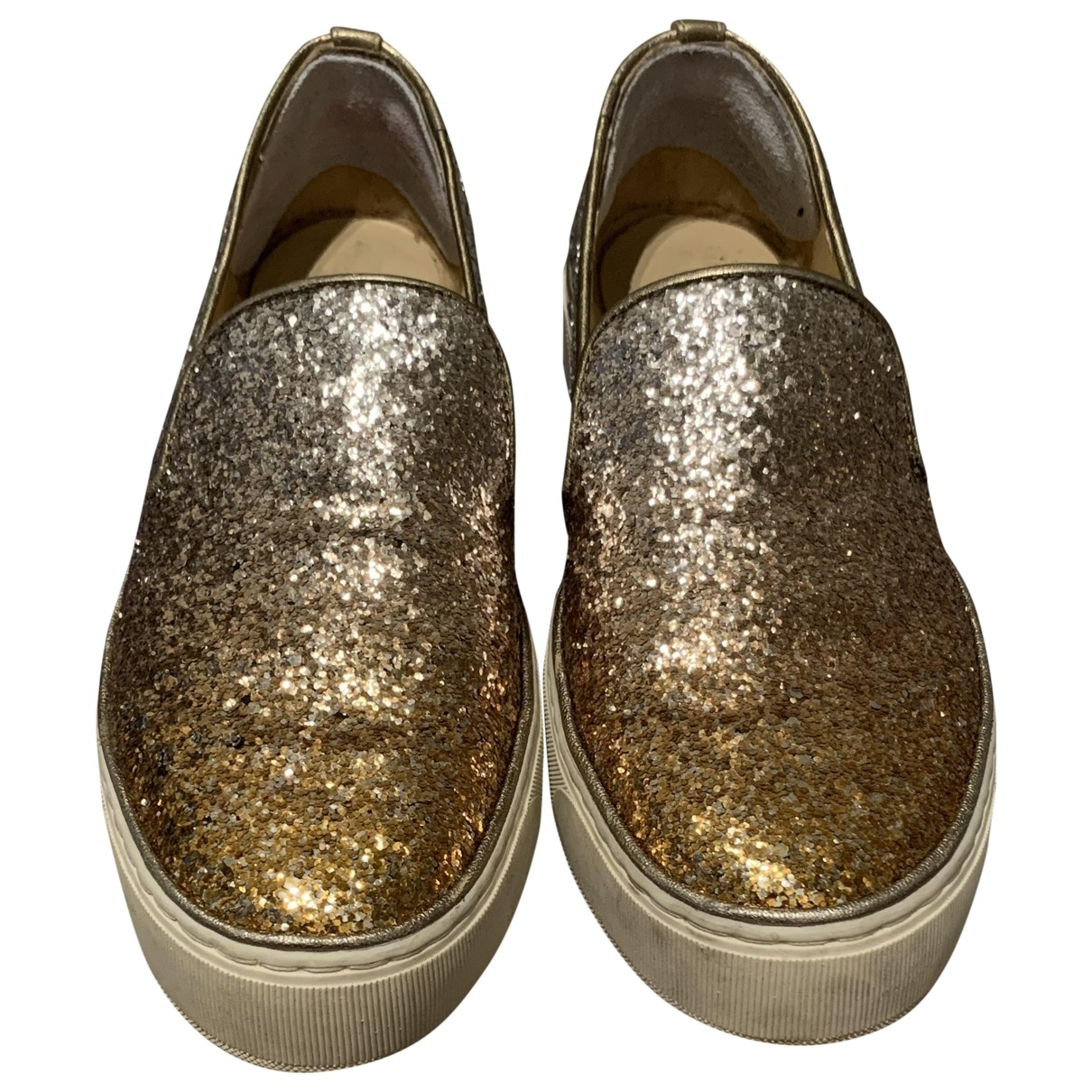 Stuart Weitzman \N Sneakers in  Gold Mit Pailletten