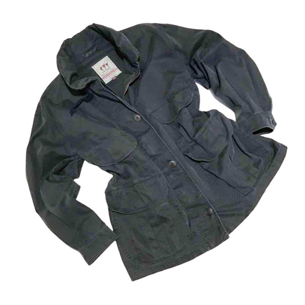 Henry Cotton \N Blue Cotton jacket for Women 44 IT