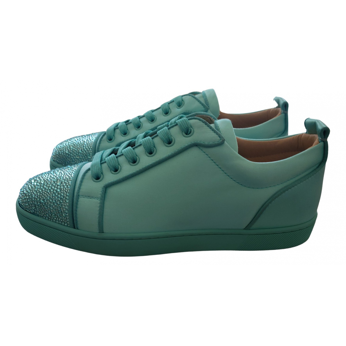 Christian Louboutin Louis Sneakers in  Gruen Leder