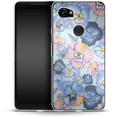 Google Pixel 2 XL Silikon Handyhuelle - Pretty Pansy von Stephanie Breeze