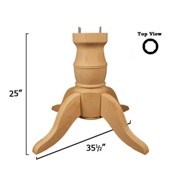 Red Oak Coventry Table Pedestal Kit, Model 1161O