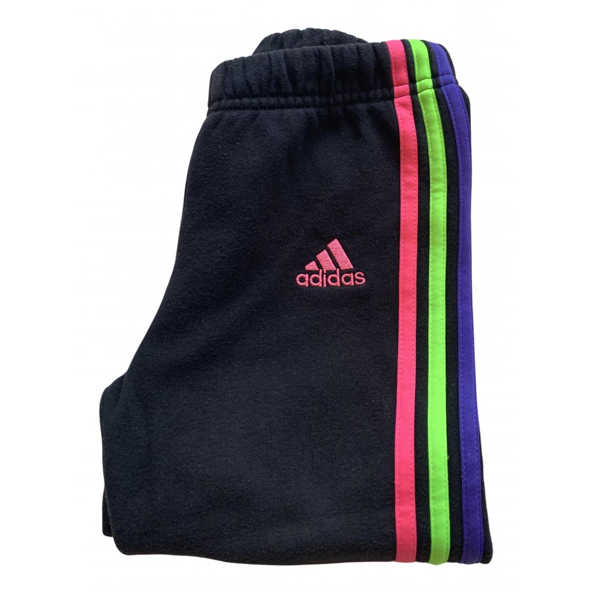 Adidas - Pantalon   pour enfant en coton - noir
