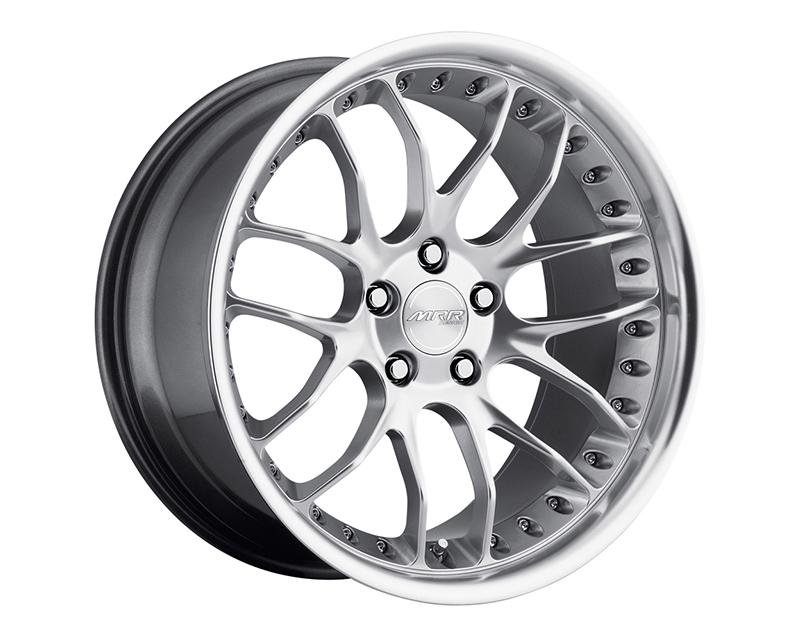 MRR Design Hyper Silver with Machined Lip GT7 Wheel 5x120 18x8.5