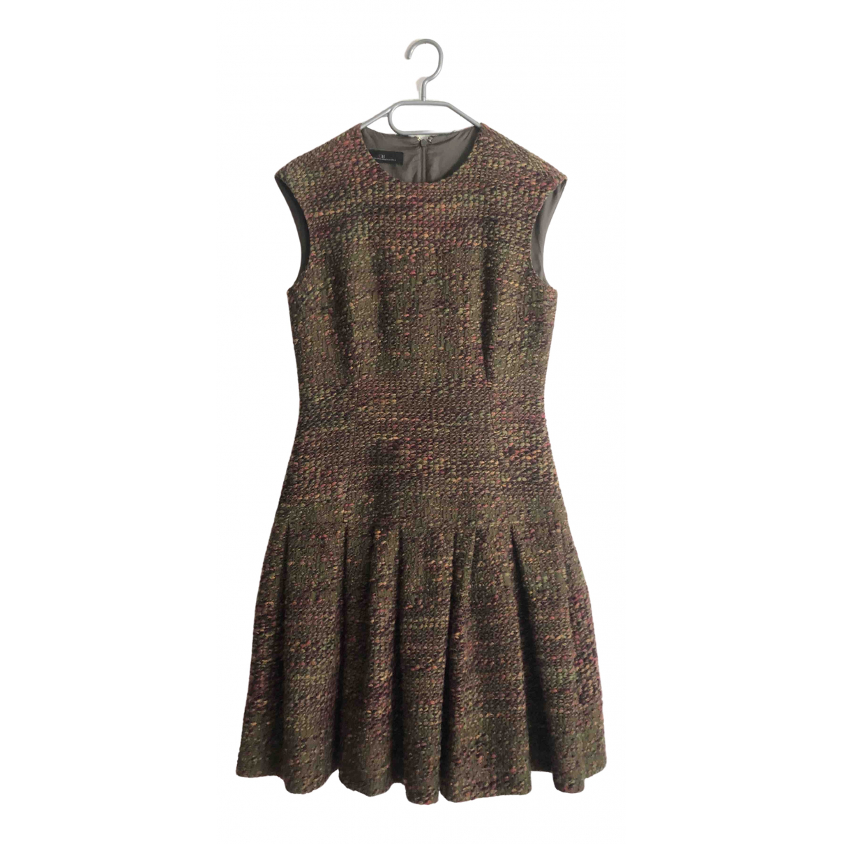 Carolina Herrera \N Kleid in  Khaki Wolle