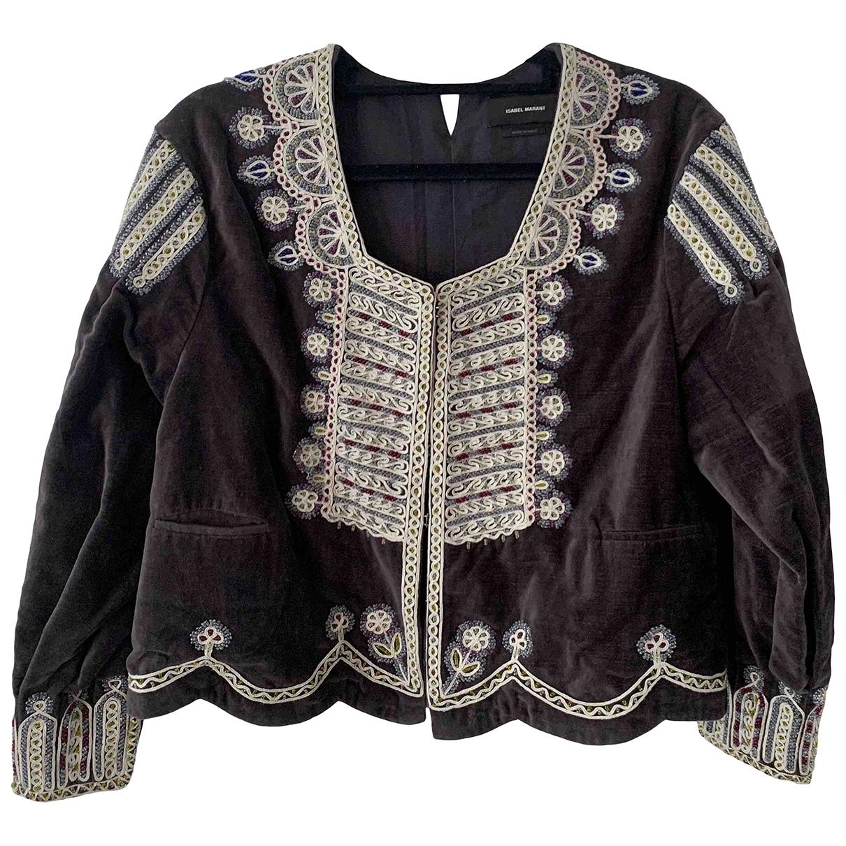 Isabel Marant \N Grey Velvet jacket for Women 40 FR