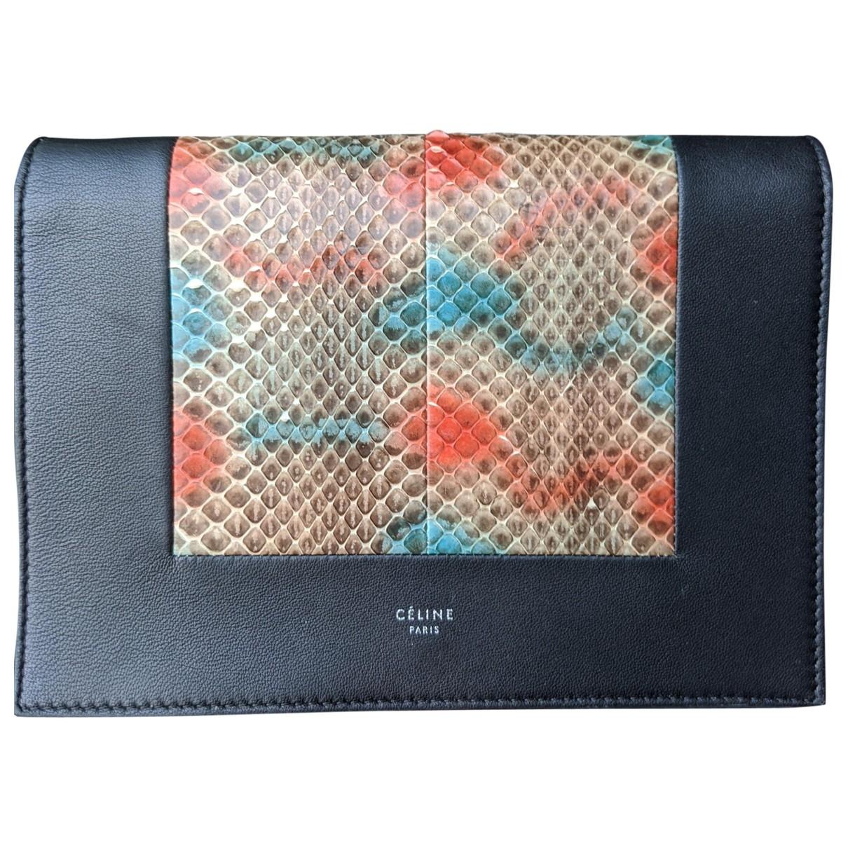 Celine Frame Handtasche in  Schwarz Python