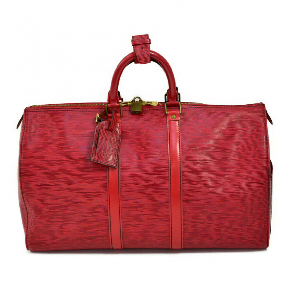 Louis Vuitton N Red Leather Travel bag for Women N