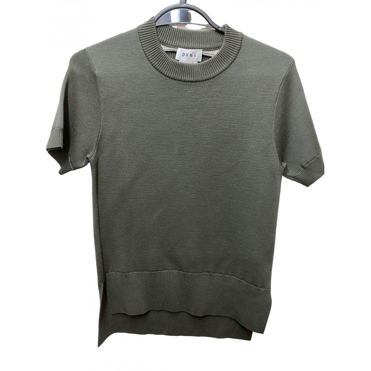 Dkny - Top   pour femme en laine - vert