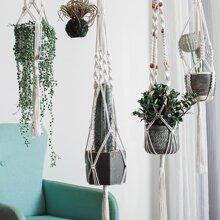1pc Braided Hanging Basket