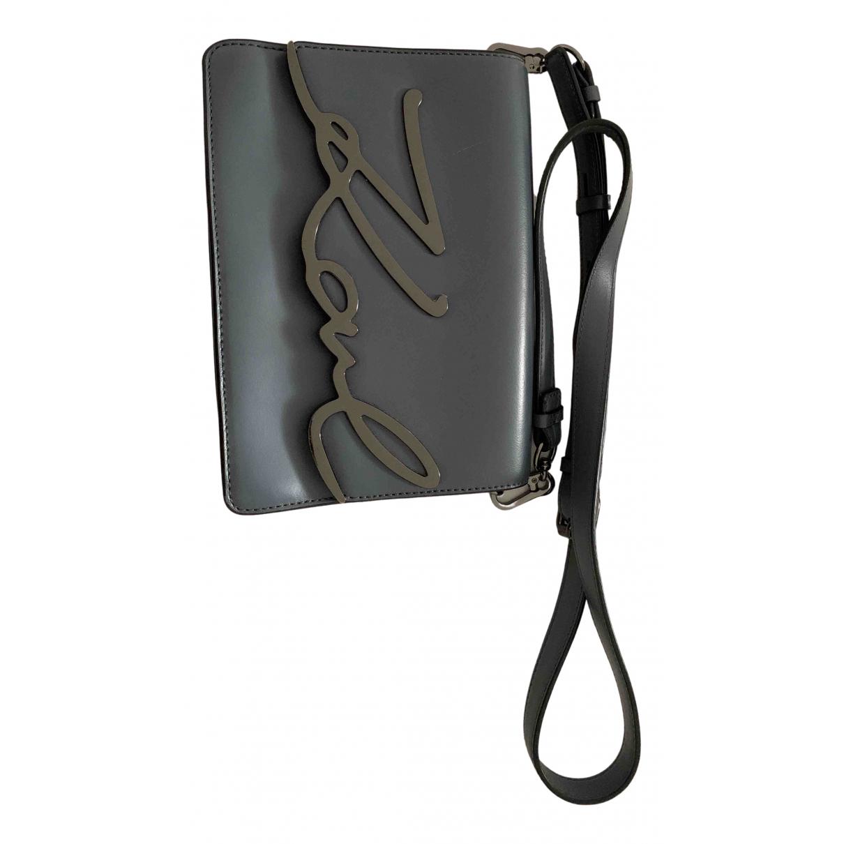 Karl Lagerfeld N Grey Leather handbag for Women N
