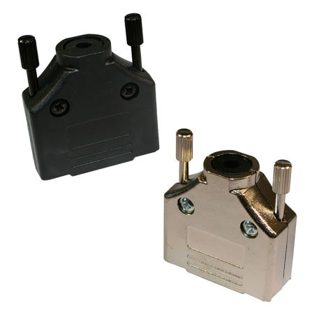 Norcomp , 970 Zinc D-sub Connector Backshell, 25 Way, Black (100)