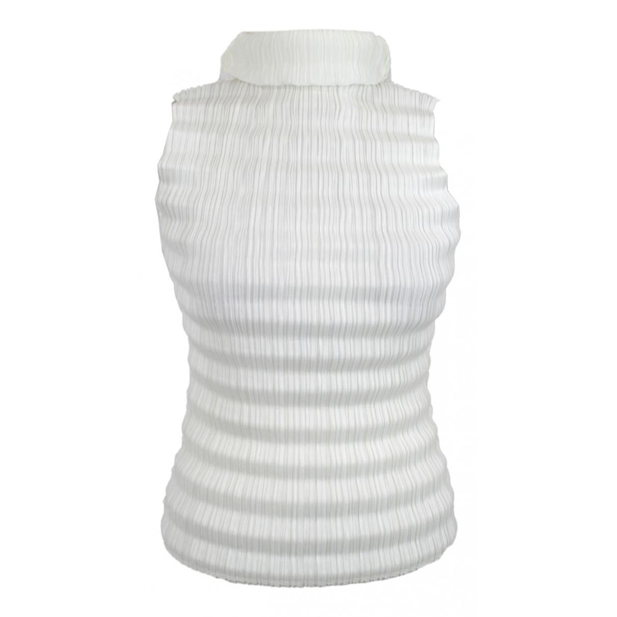 Pleats Please - Top   pour femme - blanc