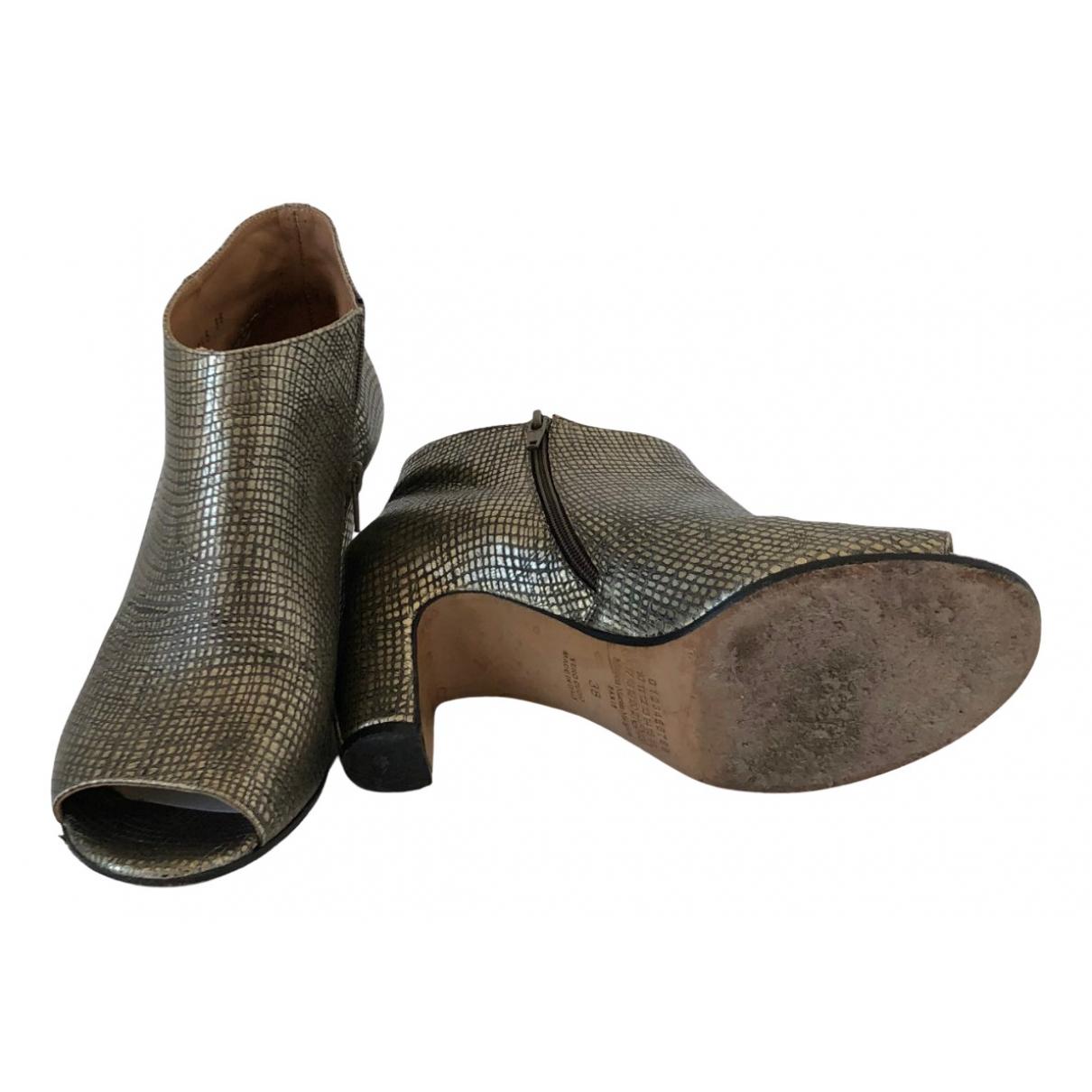 Maison Martin Margiela - Boots   pour femme en serpent deau - multicolore