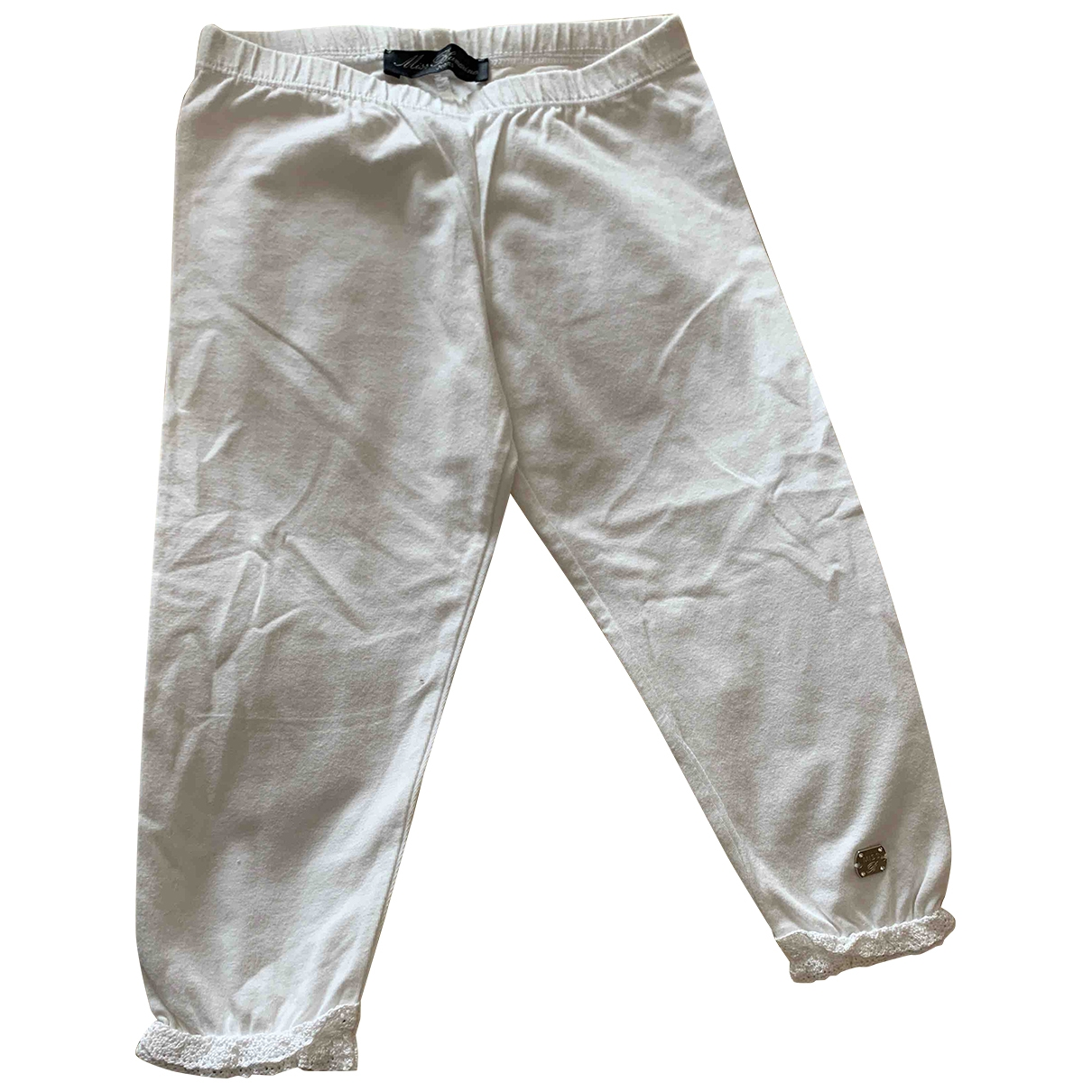 Blumarine \N White Cotton Trousers for Kids 4 years - up to 102cm FR