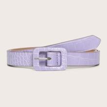 Cinturon con hebilla cuadrada con textura