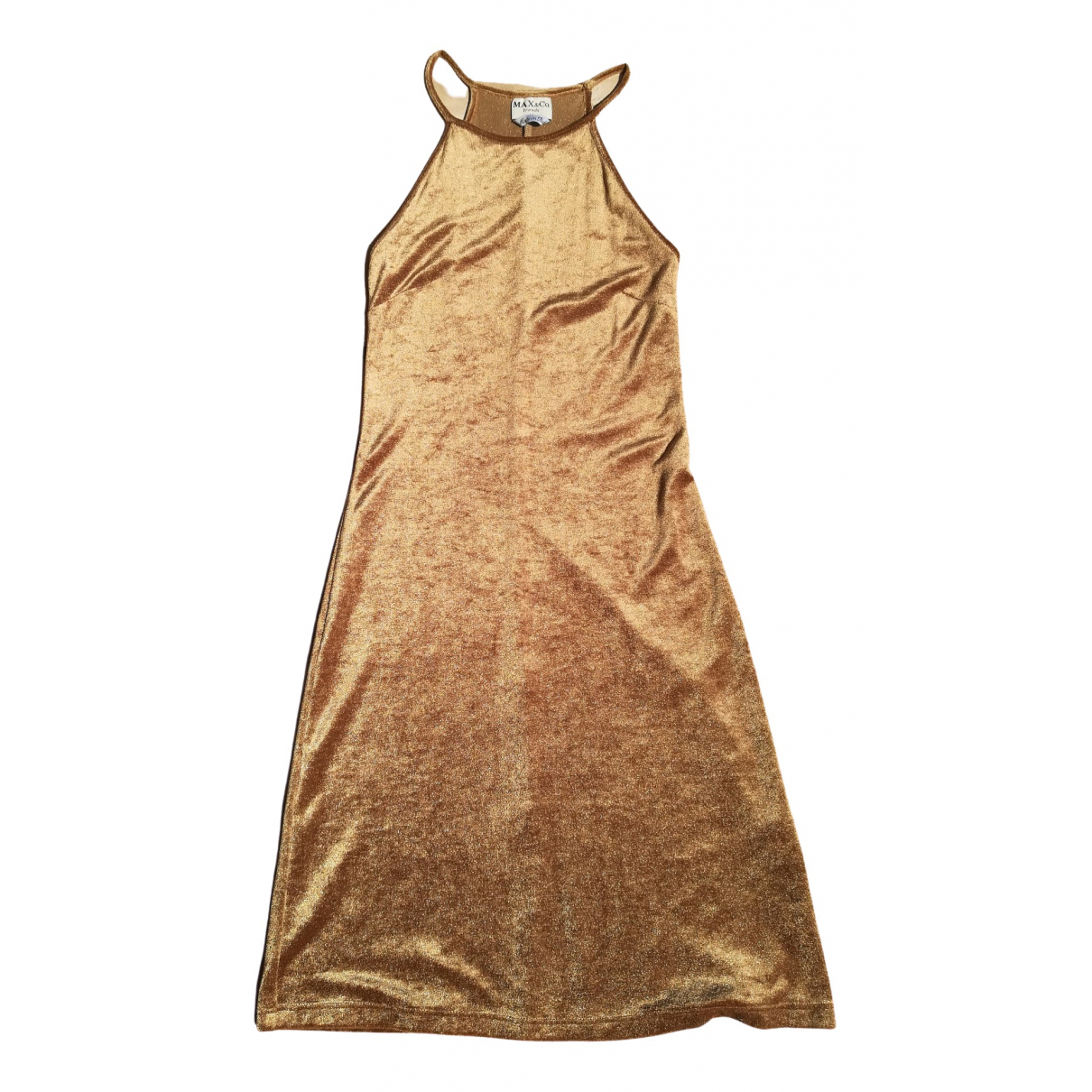 Max & Co \N Kleid in  Gold Samt