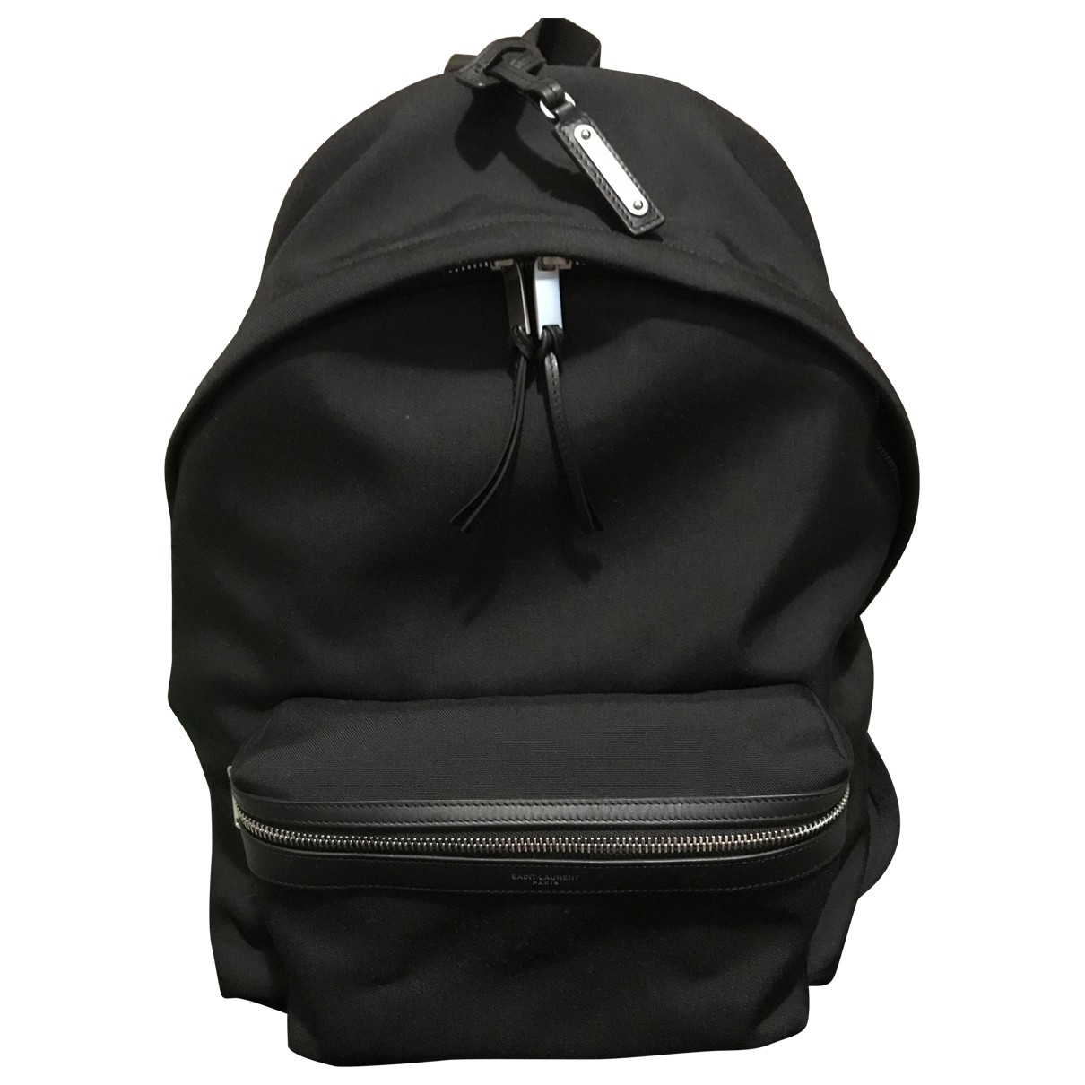 Saint Laurent - Sac City Backpack pour homme en toile - noir