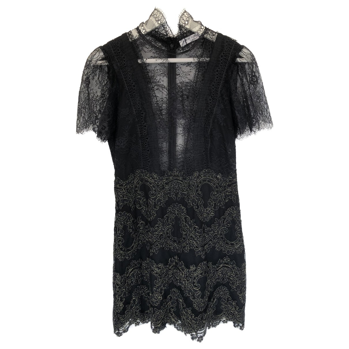 Sandro - Robe   pour femme en dentelle - noir