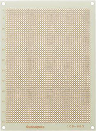 Sunhayato ICB-96G, Single Sided Matrix Board FR4 with 0.9mm Holes 2.54 x 2.54mm Pitch, 160 x 115 x 1.2mm