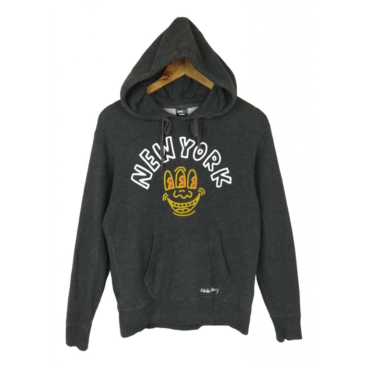 Keith Haring \N Pullover.Westen.Sweatshirts  in  Grau Baumwolle