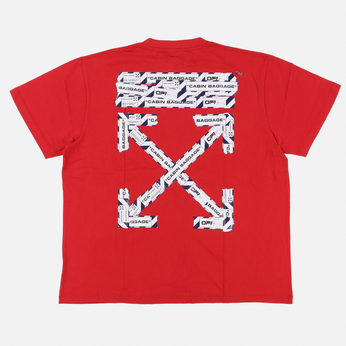 Off-white - Tee shirts   pour homme en coton - rouge