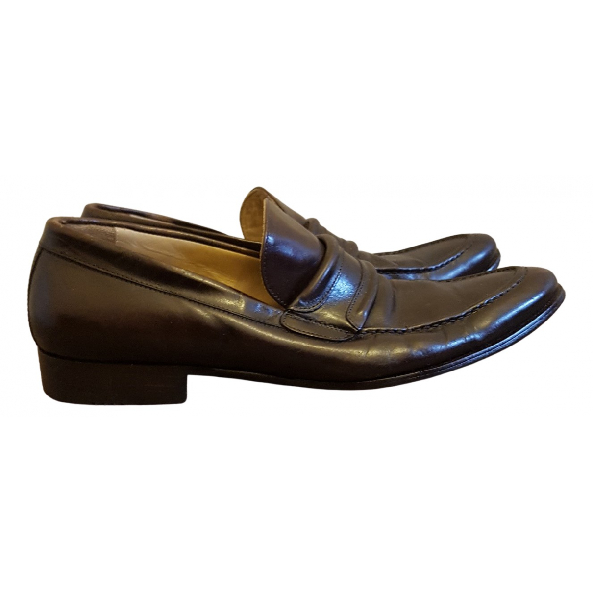 D&g \N Brown Leather Flats for Men 42 EU