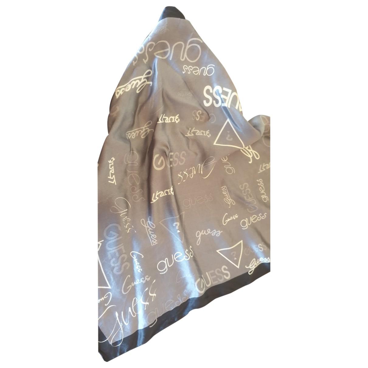 Guess \N Grey Silk scarf for Women \N