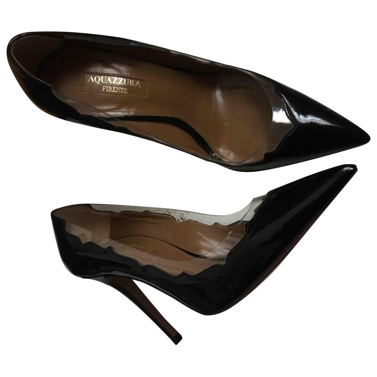 Aquazzura \N Black Patent leather Heels for Women 36 EU