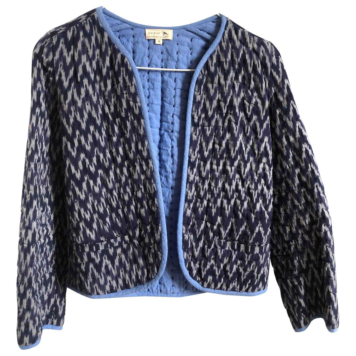Soeur \N Blue Cotton jacket & coat for Kids 14 years - S FR