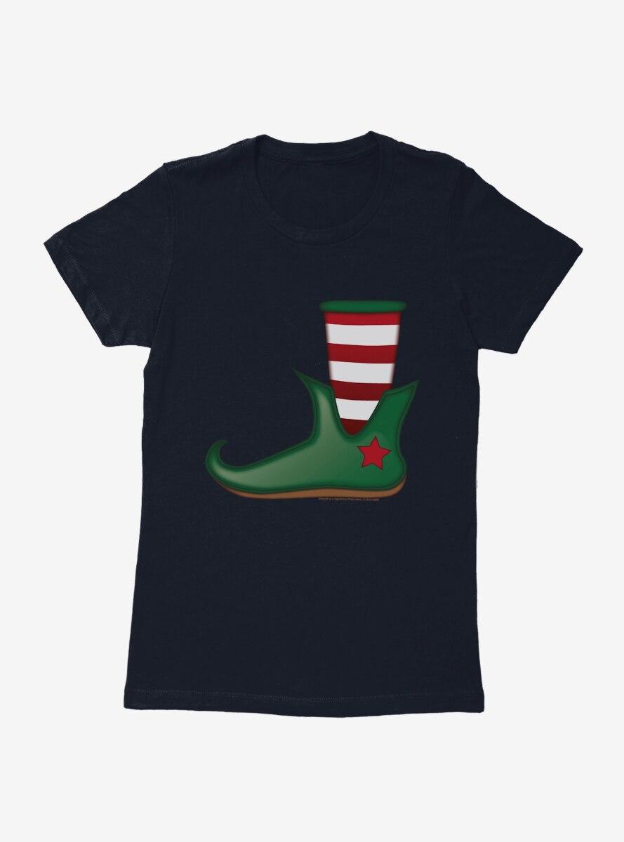 Emoji Holiday Icons Elf Shoe Womens T-Shirt