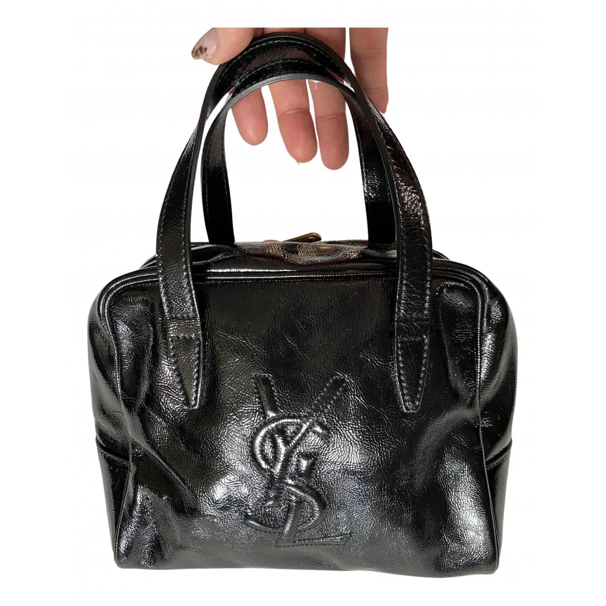 Yves Saint Laurent - Sac a main   pour femme en cuir verni - noir