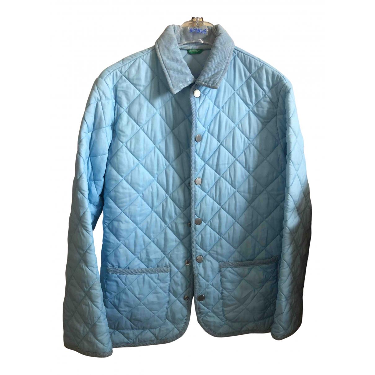 Benetton - Blousons.Manteaux   pour enfant - turquoise