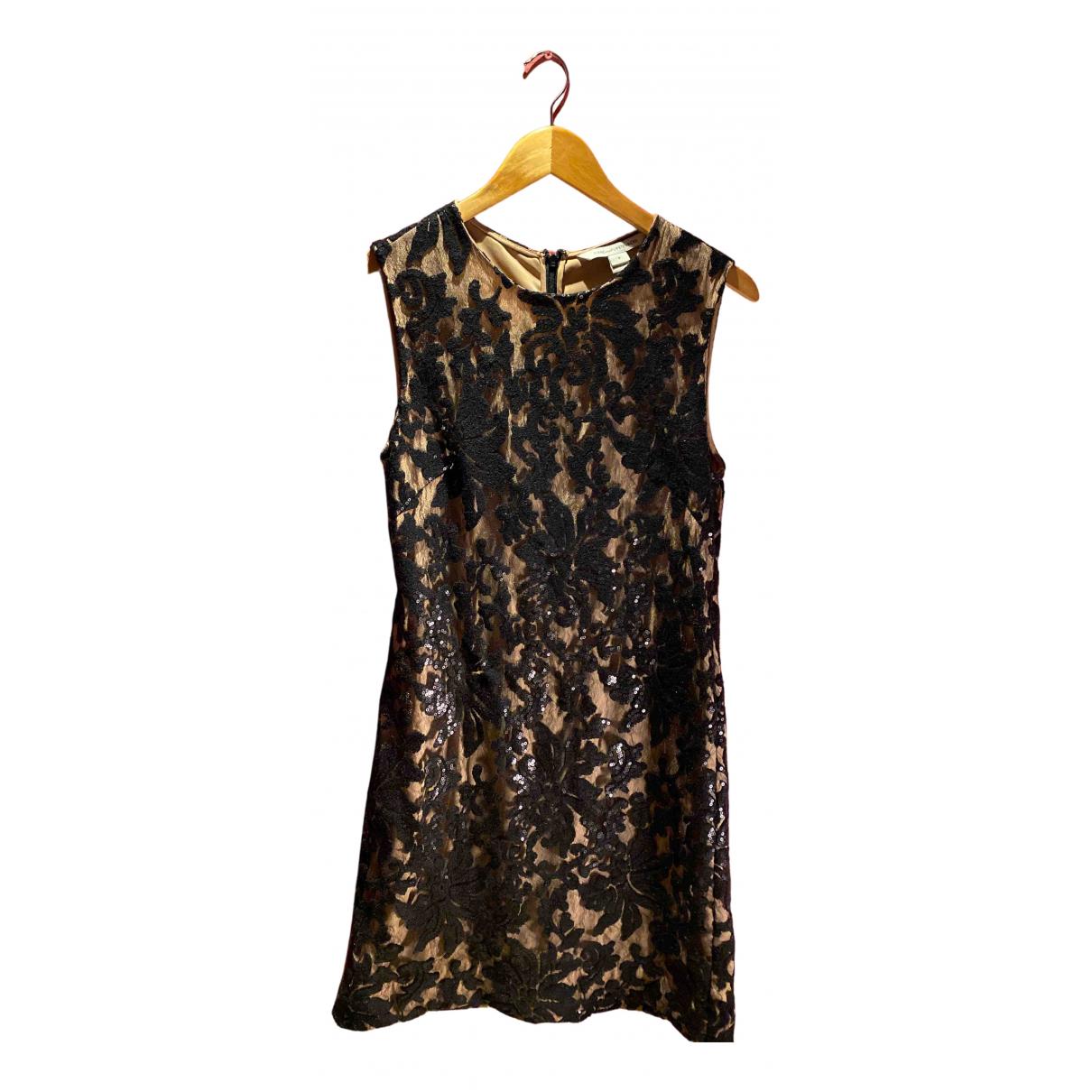 Diane Von Furstenberg \N Kleid in  Schwarz Mit Pailletten