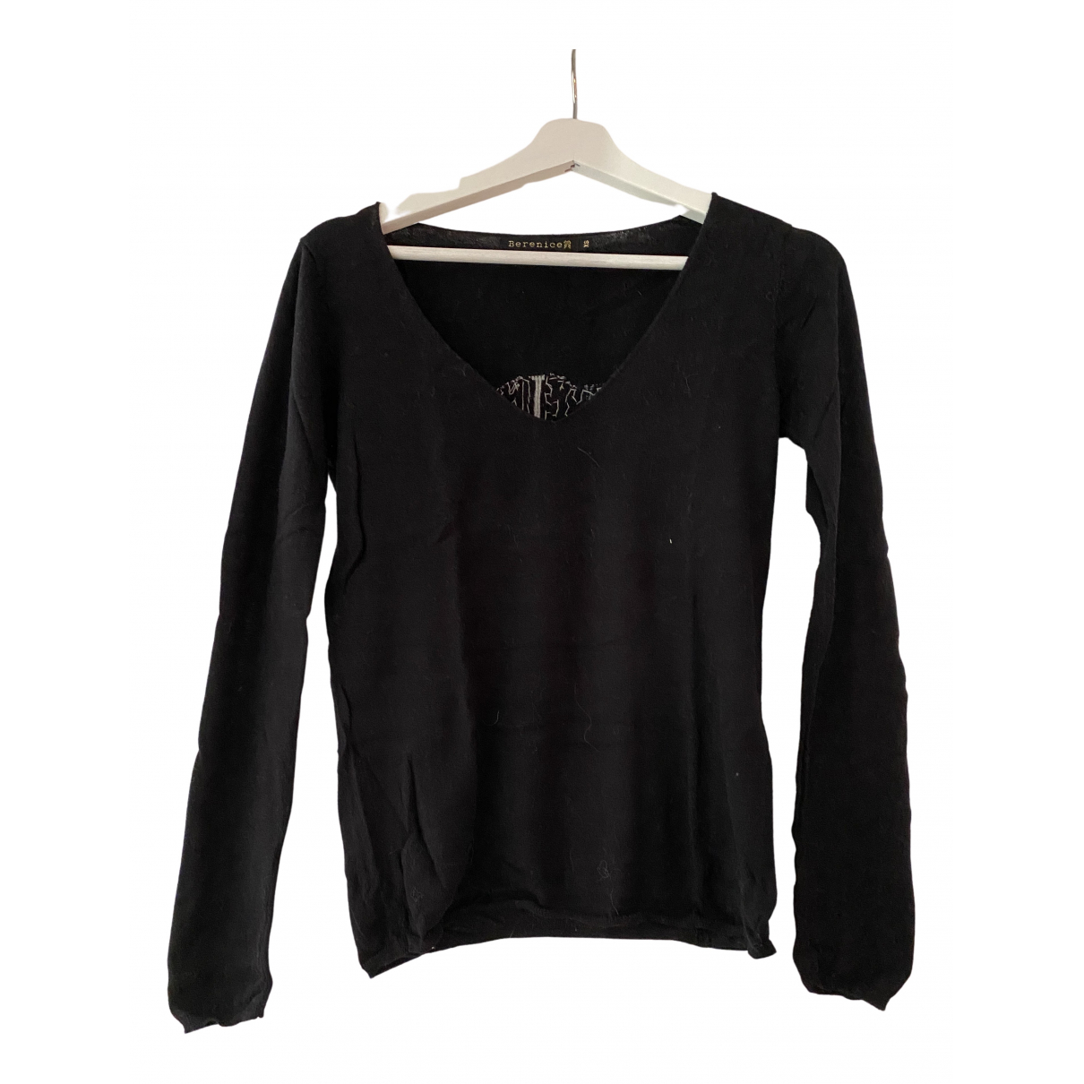 Berenice N Black Cotton Knitwear for Women XS International