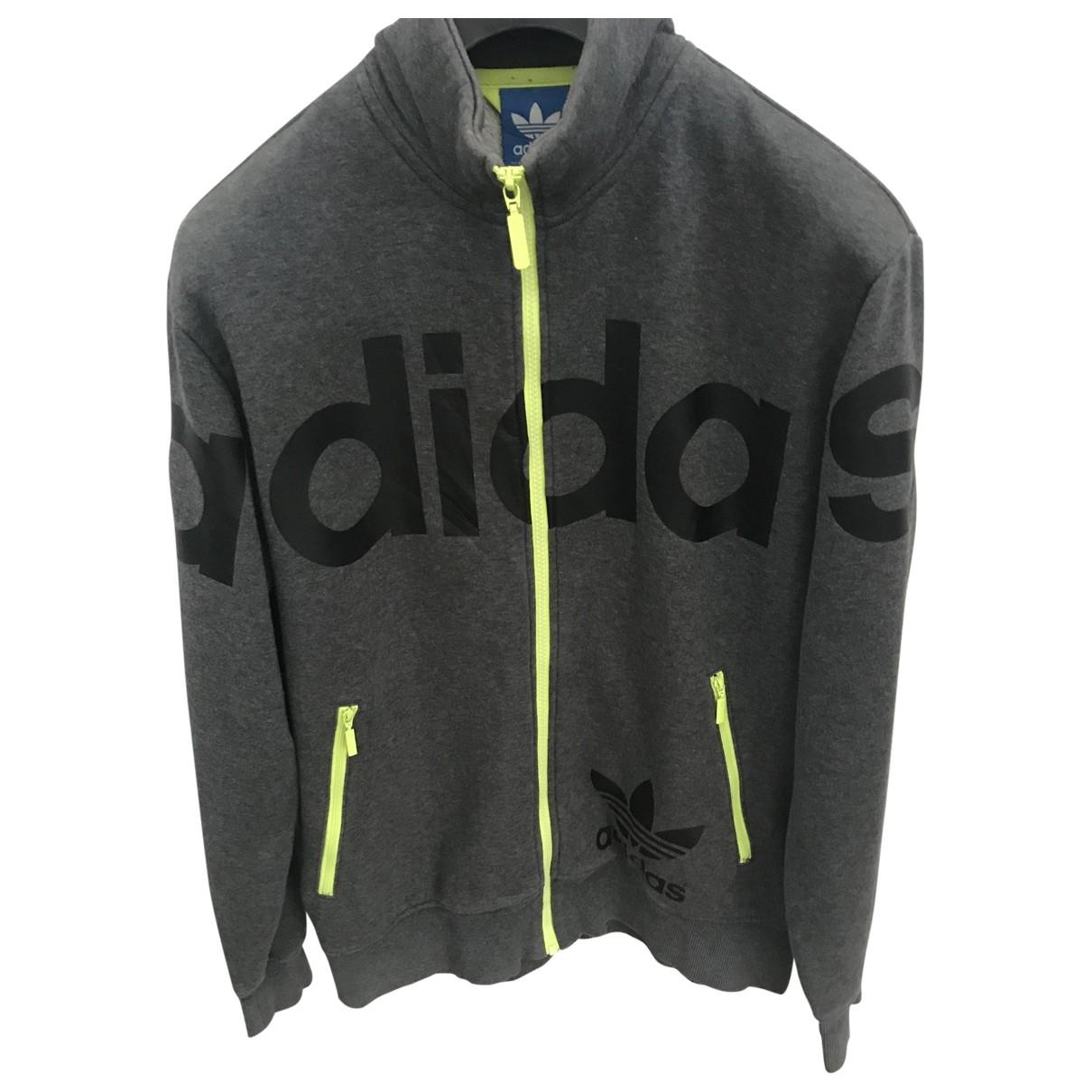 Adidas - Vestes.Blousons   pour homme en coton - gris
