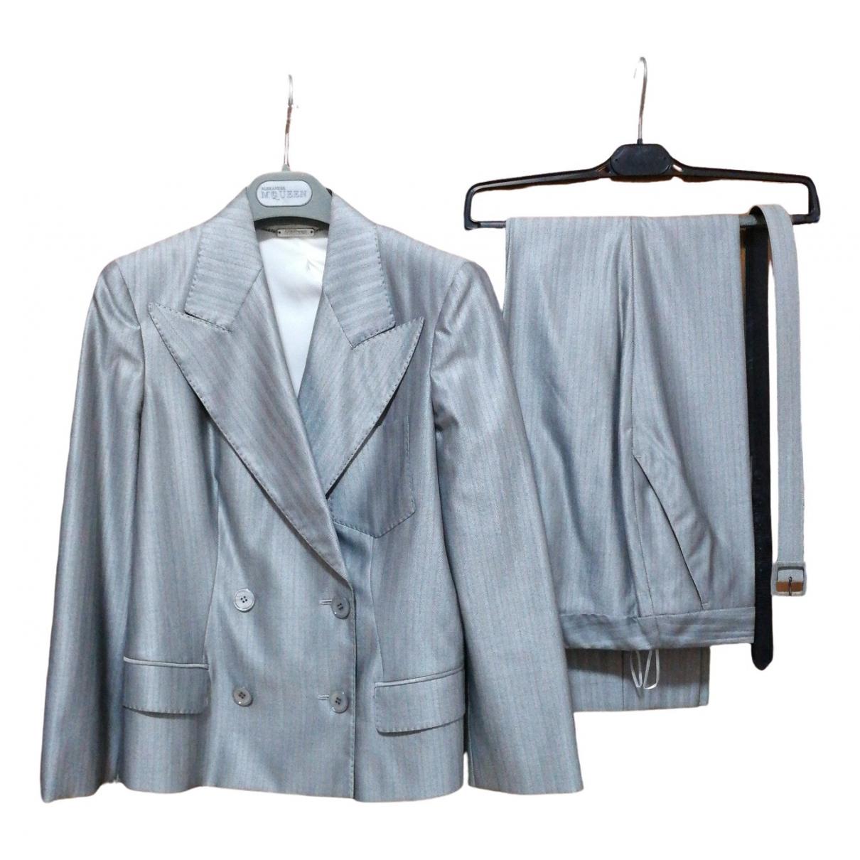 Alexander Mcqueen - Veste   pour femme en soie - gris